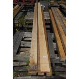 Quantity of lengths of 3/4'' x 3 1/2'' and up to 190'' long.