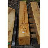 Piece of oak 6 3/4'' squarer x 53''.
