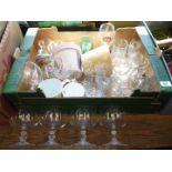 Miscellaneous glasses, planters, mugs,