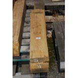 Four varying lengths of oak 5 1/2'' x 1 1/2'' and up to 55'' long.