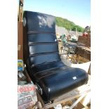 Leather effect gaming chair