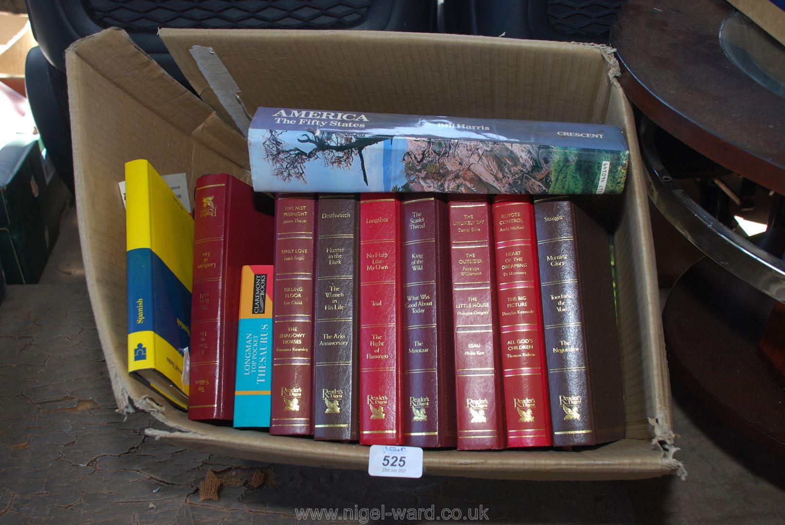 A quantity of Readers Digest novels, etc.