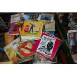 Box of LP records including The Seekers, Abba, The Carpenters,