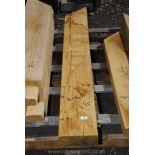 Piece of oak 3 1/2'' x 8 1/2'' x 55''