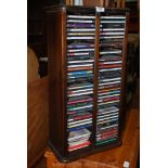 CD rack with collection of various CD's