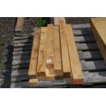 Quantity of 2 x 3 x 33'' oak posts etc.