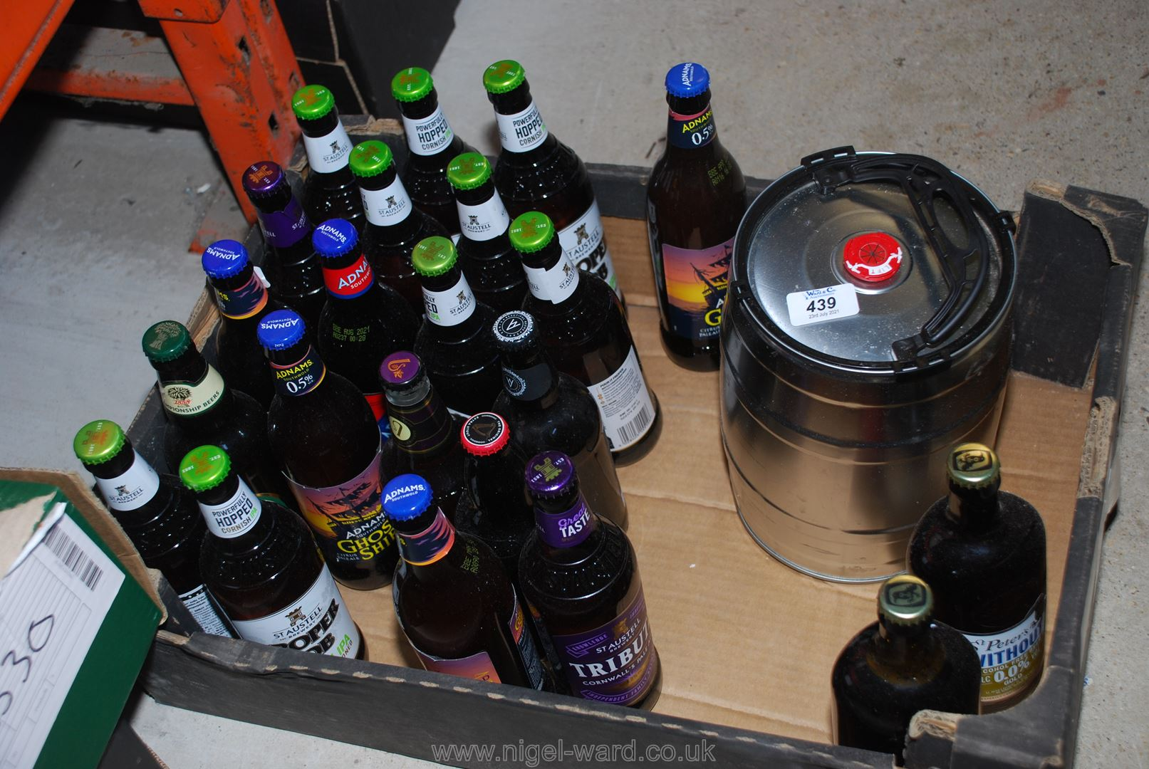 Quantity of bottle beer, Tribute,