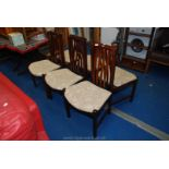 Set of six stickback style dining chairs