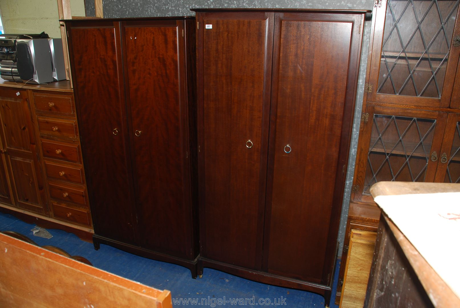 Two Stag double wardrobes