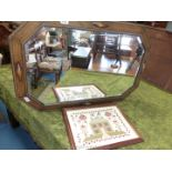 Bevel plated mirror,