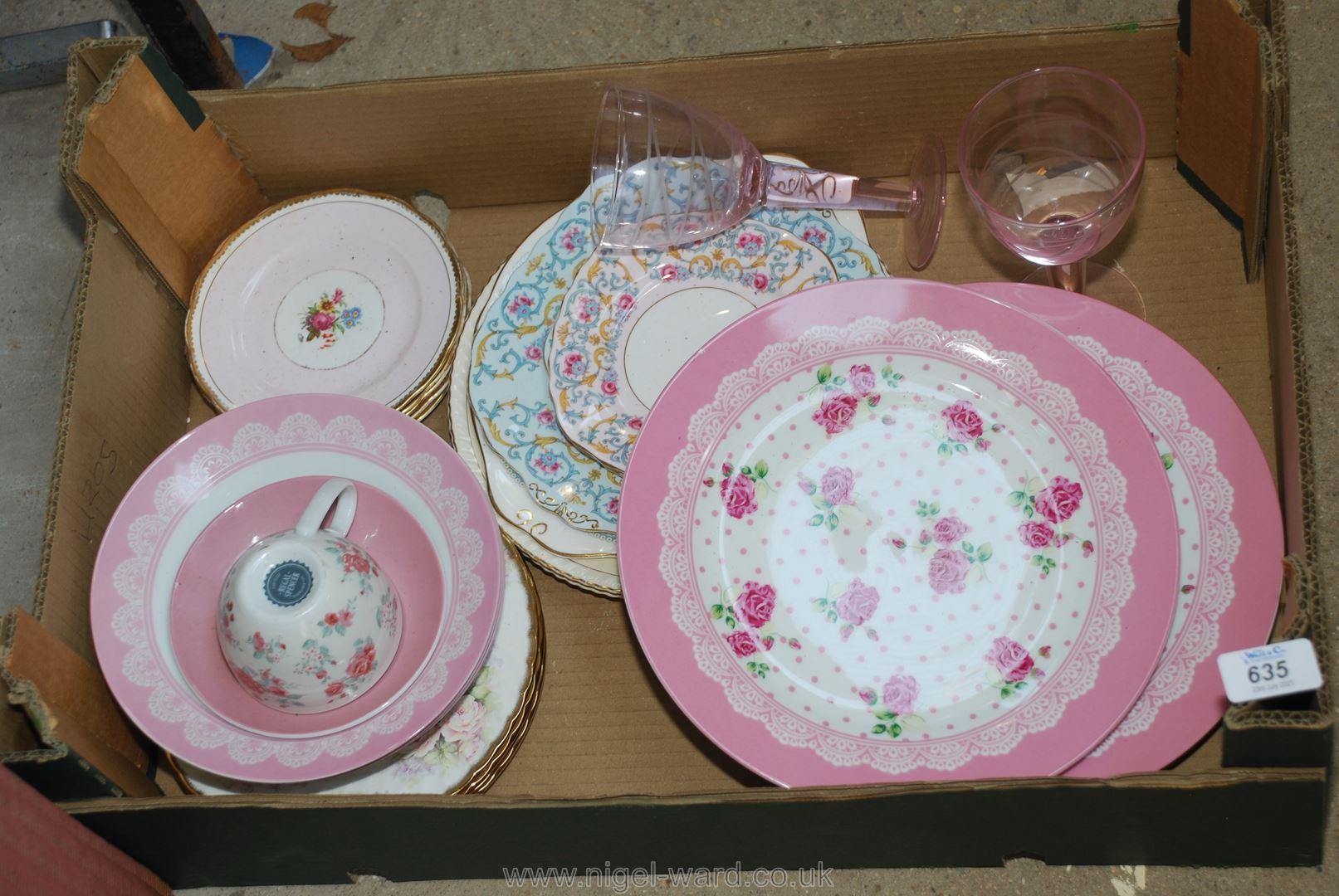 Box of decorative dinner plates
