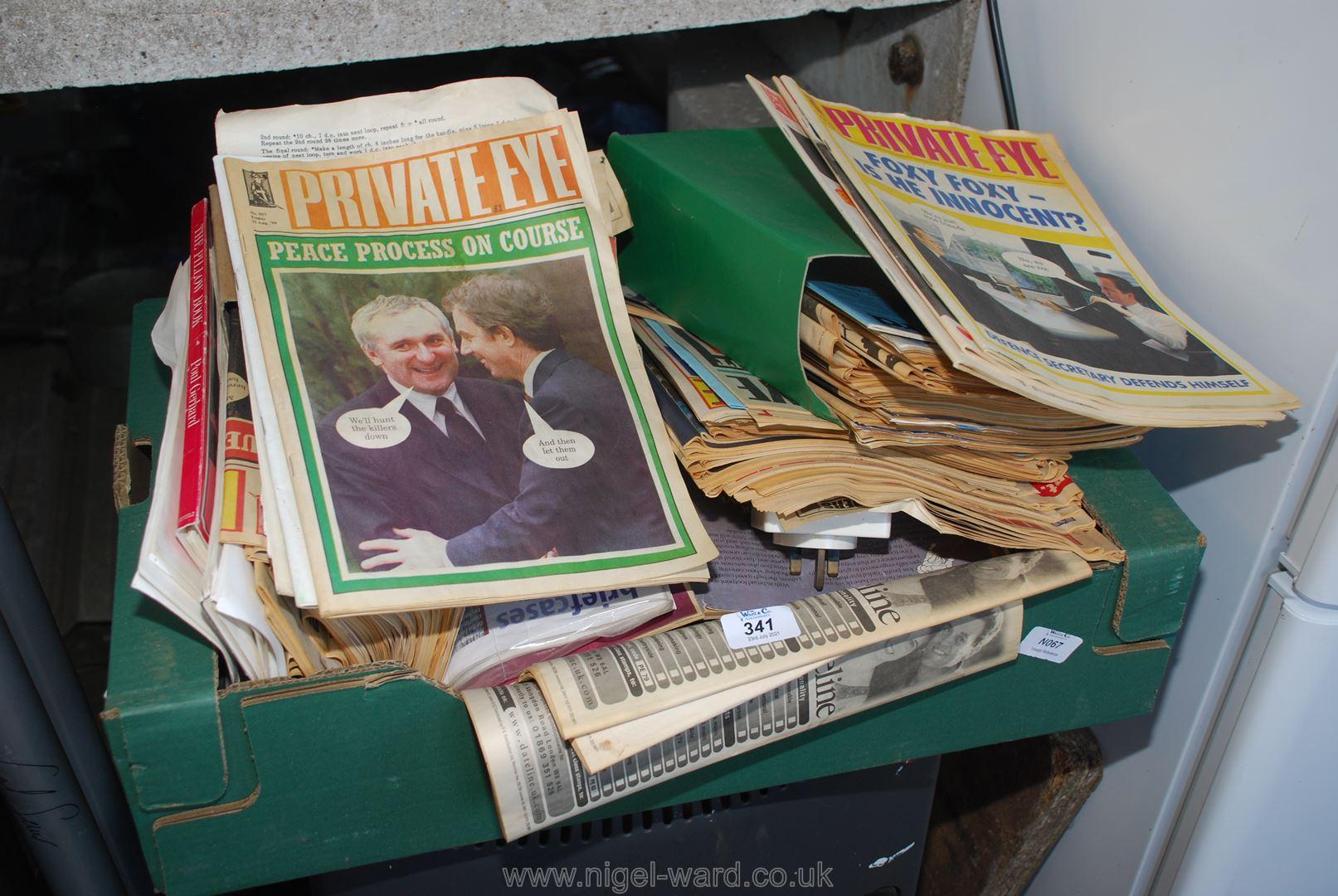 Quantity of Private Eye magazines