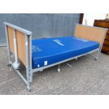 Hospital style bed and mattress