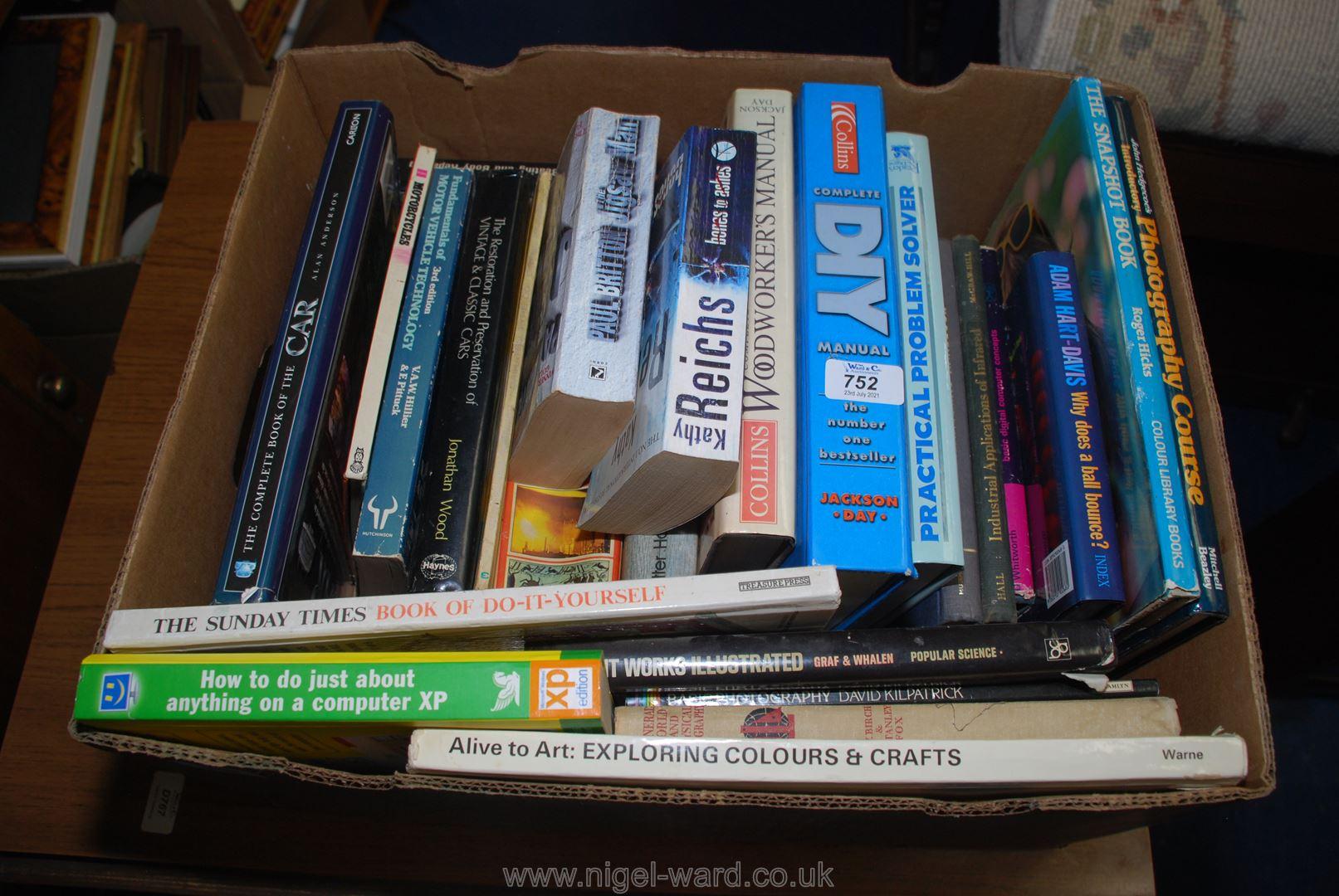 Box of DIY books,