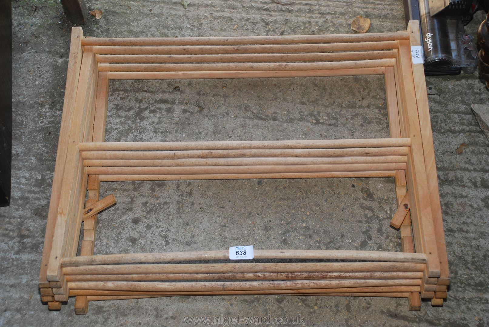 Traditional style wooden clothes airer for repair