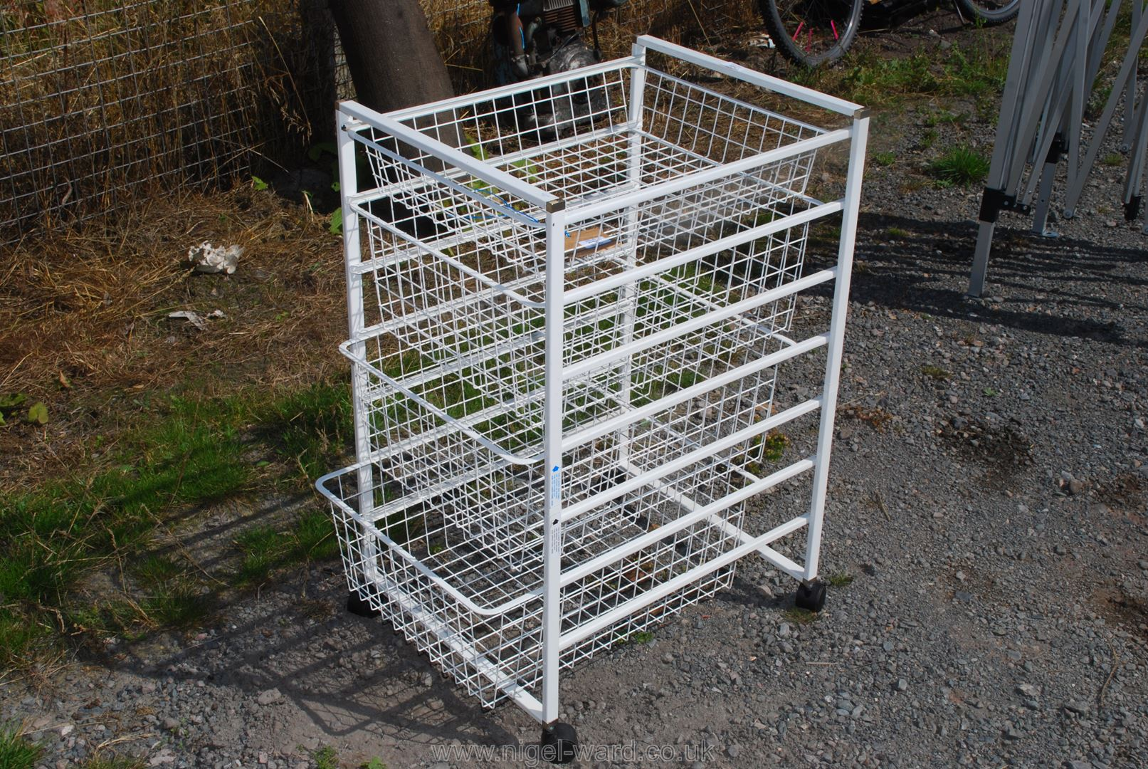 Four basket vegetable rack.