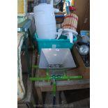 Wine making kit including press, barrel,