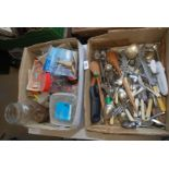 Quantity of various cutlery, fixings,