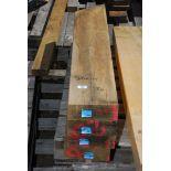 Four pieces of oak 7 1/2'' x 3'' x 41''