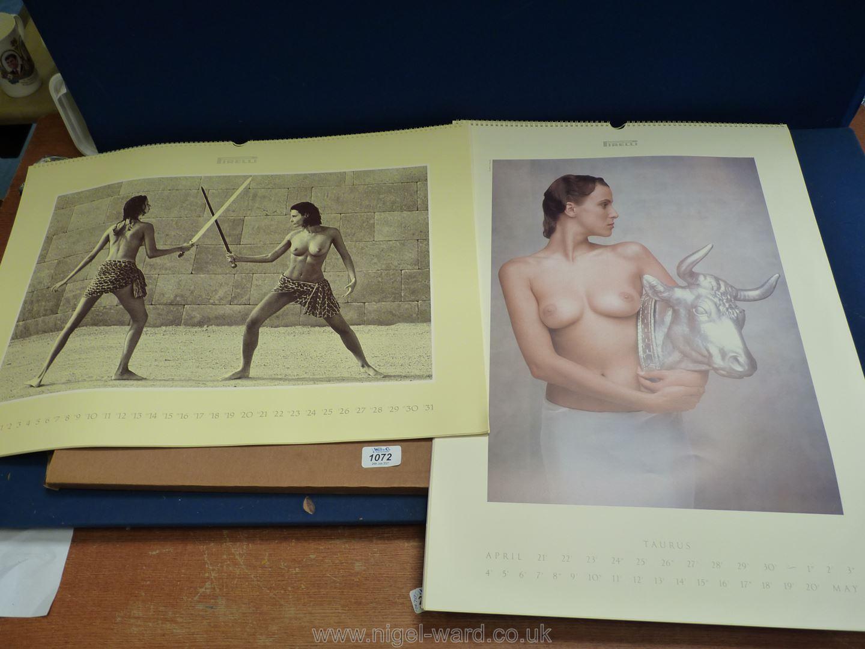 A Pirelli 1989 Zodiac Calendar and 1990 Olympic games Calendar. - Image 2 of 2