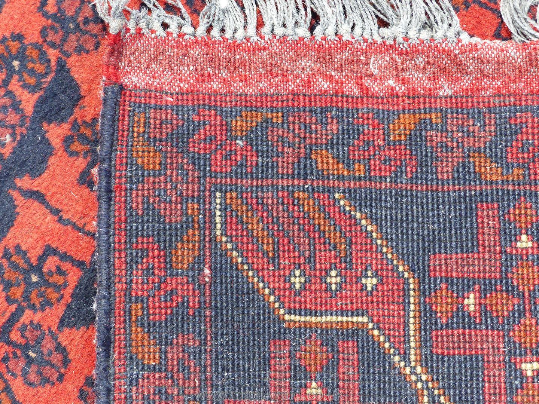 A long Afghan Kahn hall runner, 100% wool, 487 cm x 77 cm. - Image 6 of 7