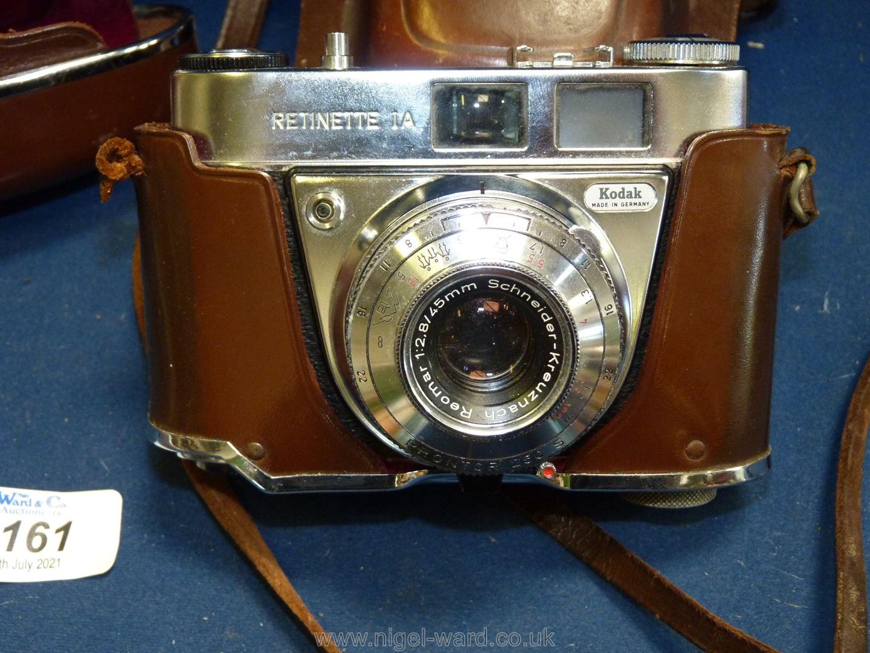 Two Kodak Retinette 1a 35mm Cameras both having Schneider-Kreuznach Reomar 45mm f/2. - Image 2 of 3