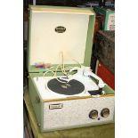 A Dansette Tempo record player.