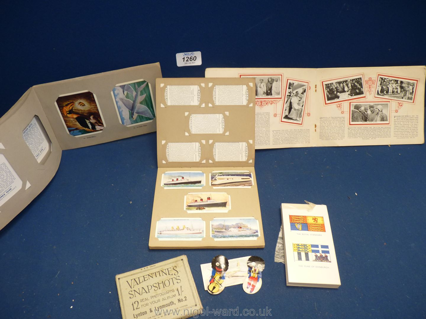 Two Cigarette Card albums, one Wills 'Speed' album, one W.D & H.O. - Image 2 of 2