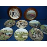 A quantity of James Herriot Border Fine Arts bone china plates including 'Jocks Pride', 'First Cut',