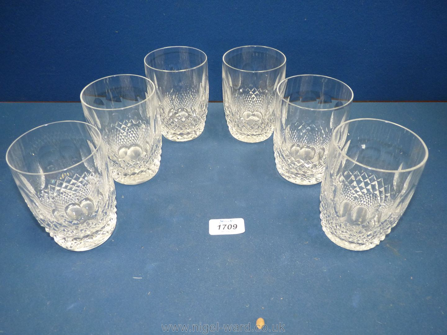 Six Waterford 'Colleen' water glasses,