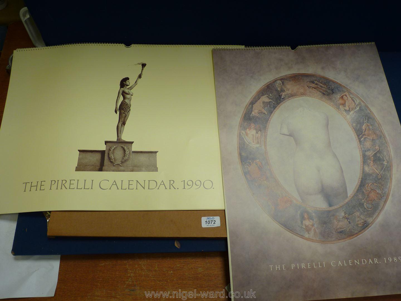 A Pirelli 1989 Zodiac Calendar and 1990 Olympic games Calendar.