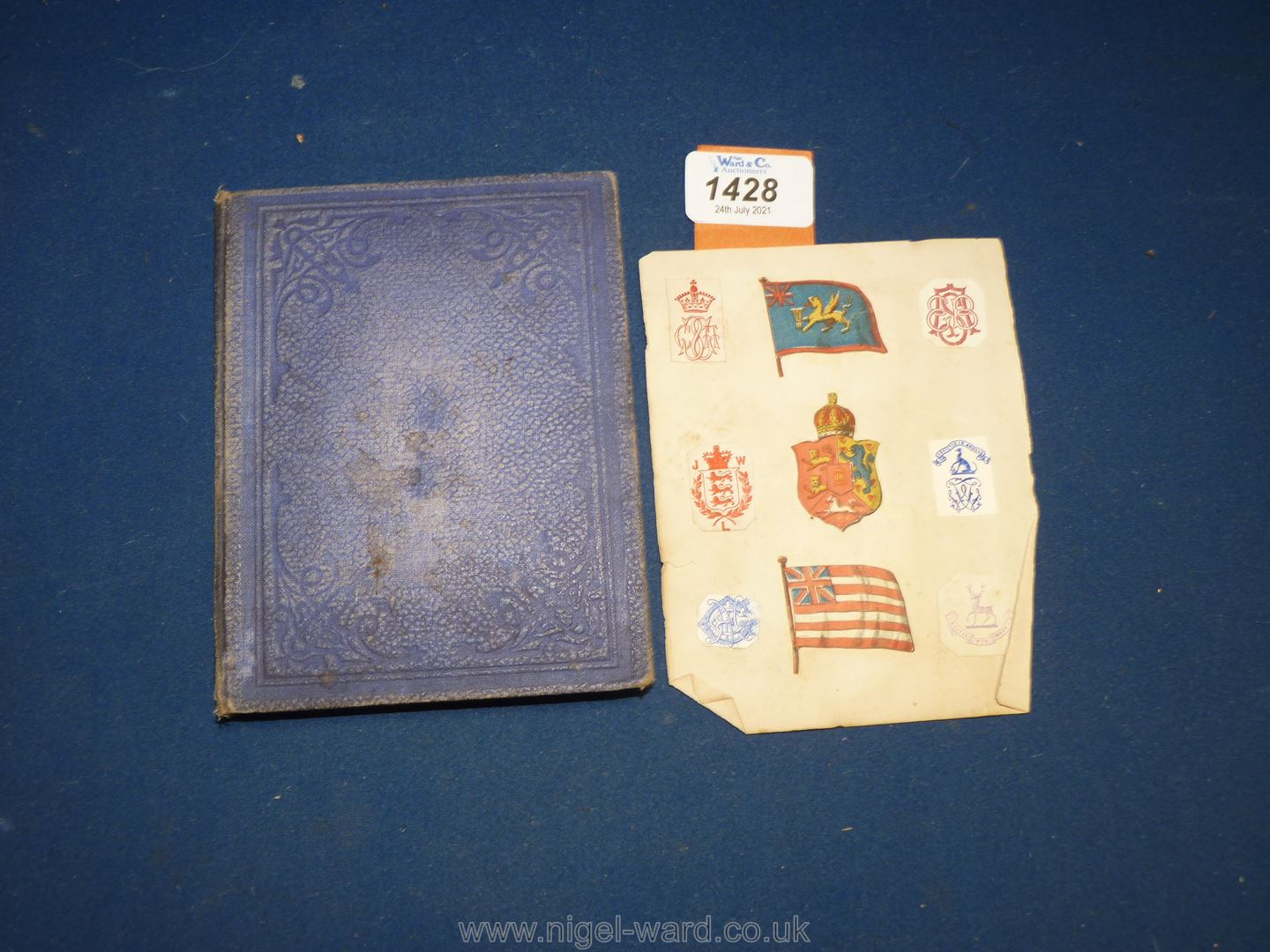 An interesting album of Coats of Arms, ciphers etc including Queen Victoria's family, nobility, - Image 7 of 7