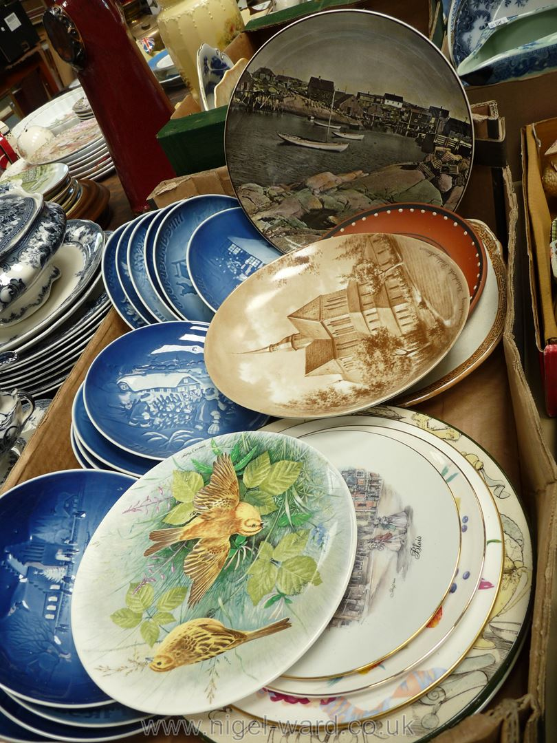 A quantity of display plates including Royal Doulton, Spode, Copenhagen Christmas plates etc. - Image 2 of 2