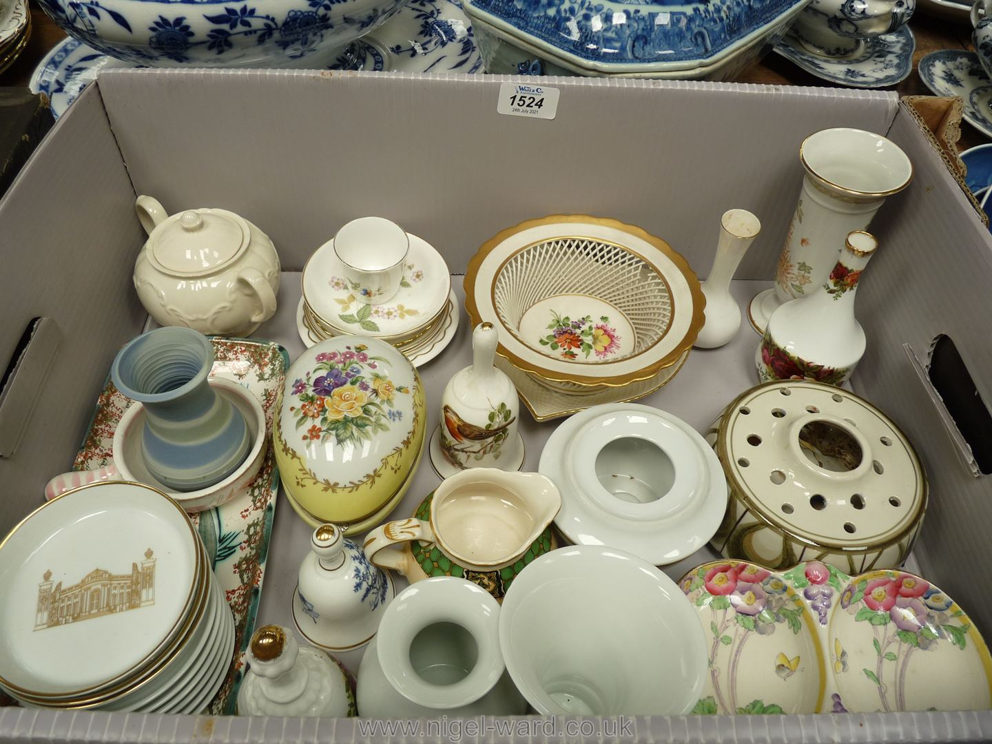 A quantity of pottery and china including Jersey pottery Pot Pourri,