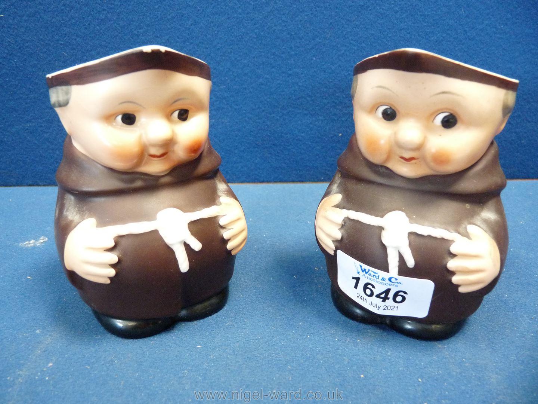 Two vintage 1950's Goebel Hummel monk jugs.