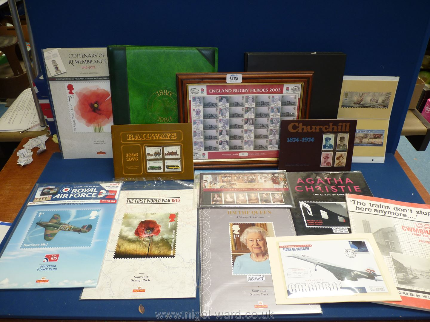 A folder of 'The Centenary Test Match 1880 - 1980 stamps and first day covers, plus another file.