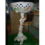 A very large ceramic table centrepiece,