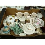A quantity of china including Thistle pattern Colclough cups and saucers,