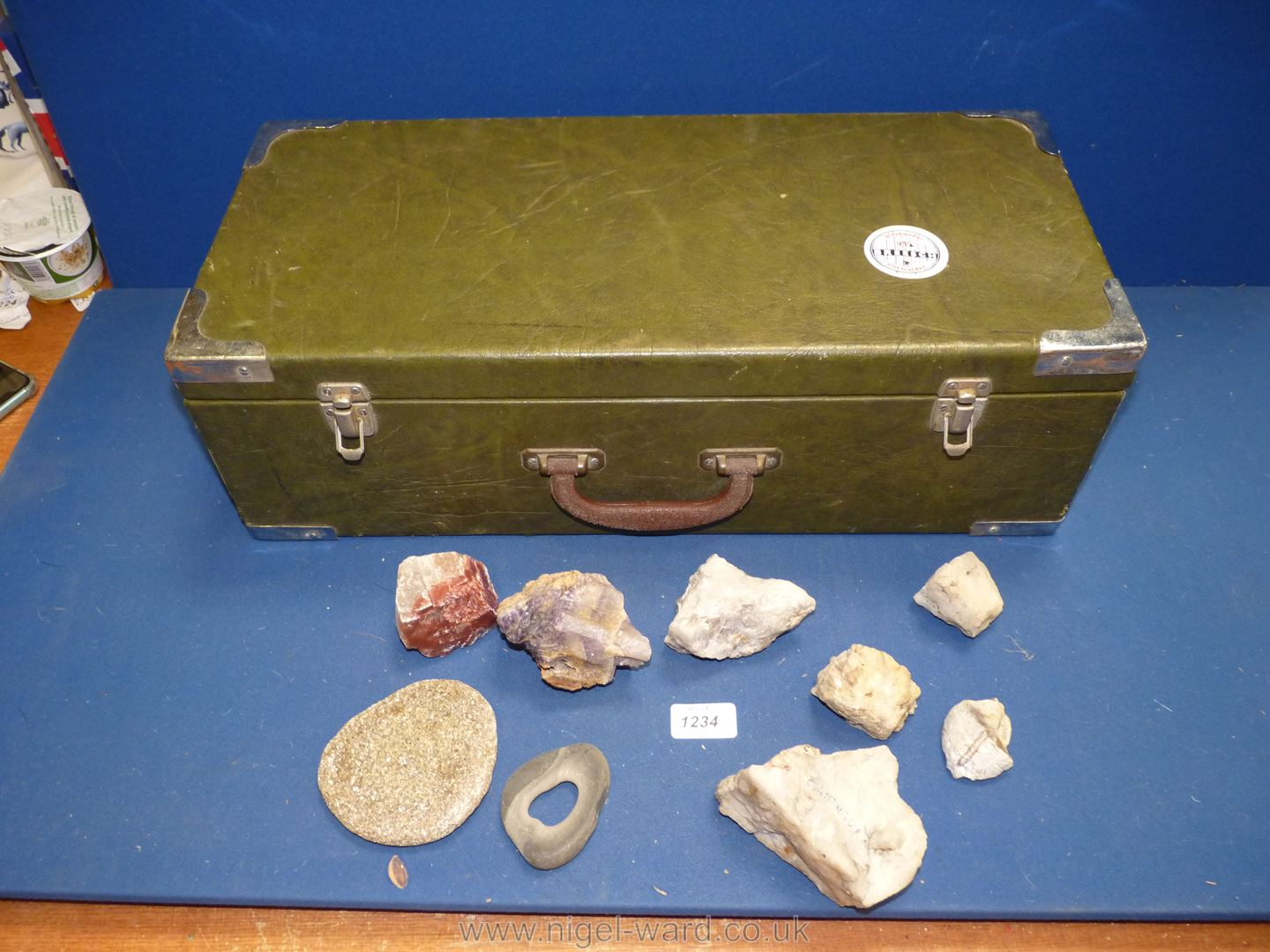 A case of Rock Specimens and Amethyst.