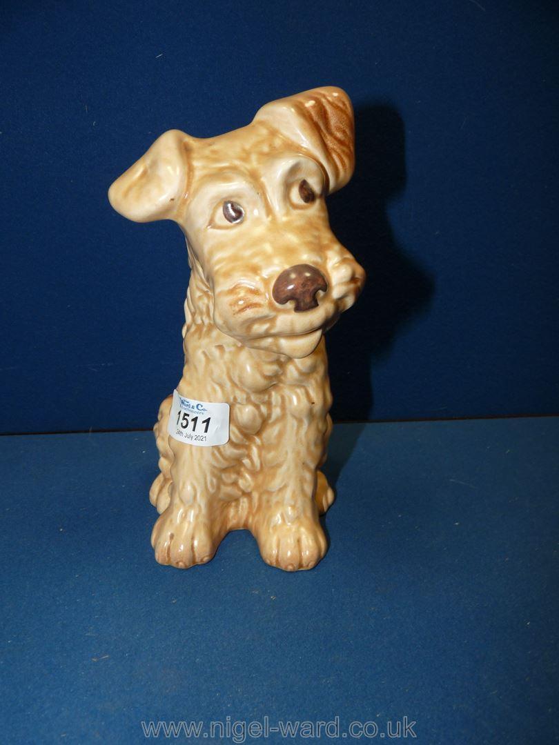 A Sylvac Terrier figure, 8'' tall, no.