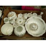 A quantity of Aynsley china including vases, stem vases, trinket dishes, jardiniere etc.