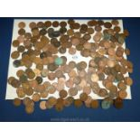 A quantity of pre-decimal pennies totalling £1/0/8d including Victoria, Edward VII,