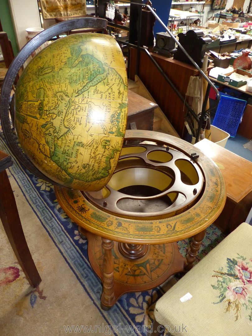 A contemporary drinks/cocktail Cabinet in the form of a terrestrial globes (as seen in James Bond - Image 2 of 2