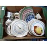 A good quantity of china including part Crown Corona dinner service, some discolouring and crazing,