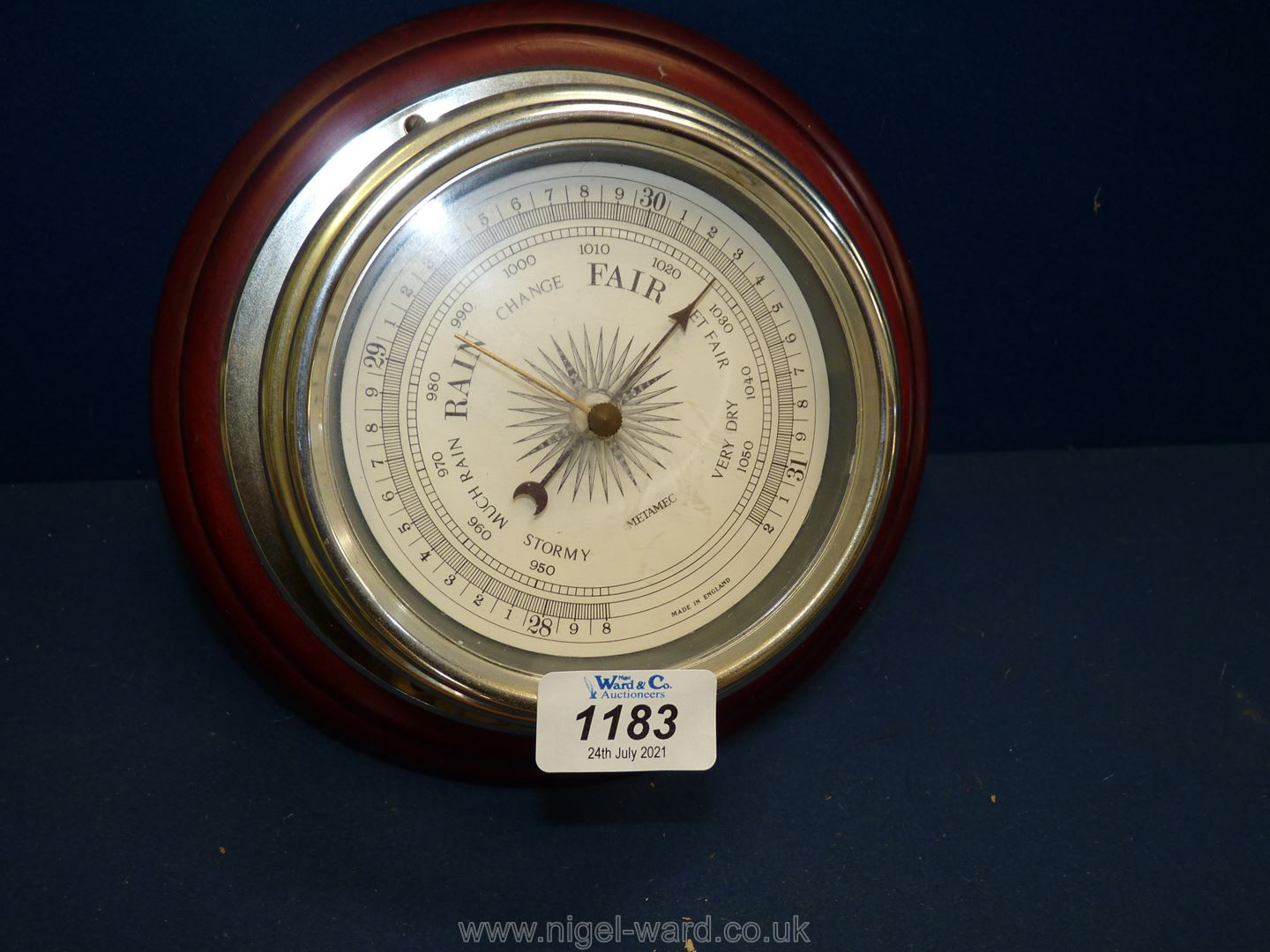 A Barometer together with a vintage parasol a/f. - Image 2 of 4