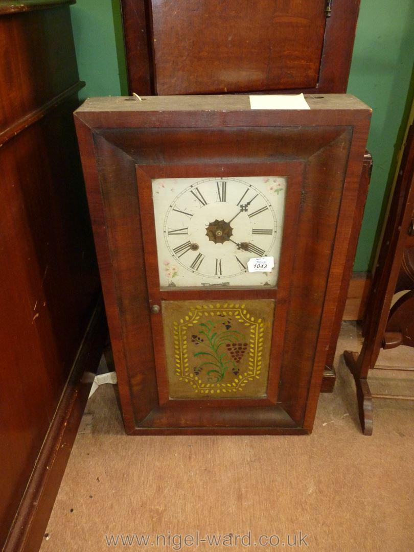 A veneered cased American Wall Clock, - Image 2 of 2