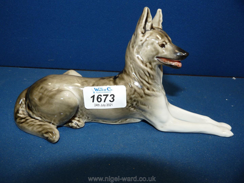 A china German Shepherd/Alsatian Dog, made in USSR.