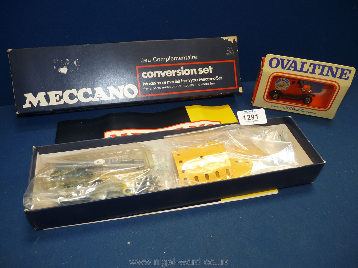 A Meccano conversion set complete with booklet, screws, etc,