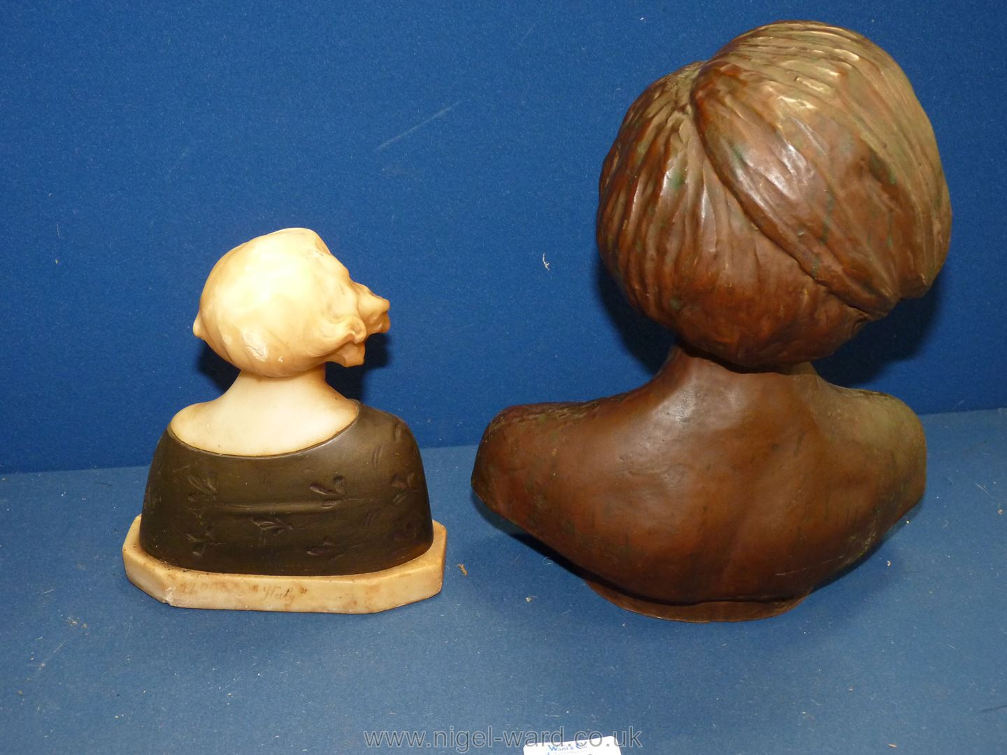 A hollow Bust of a lady and another bust of lady, - Image 2 of 3