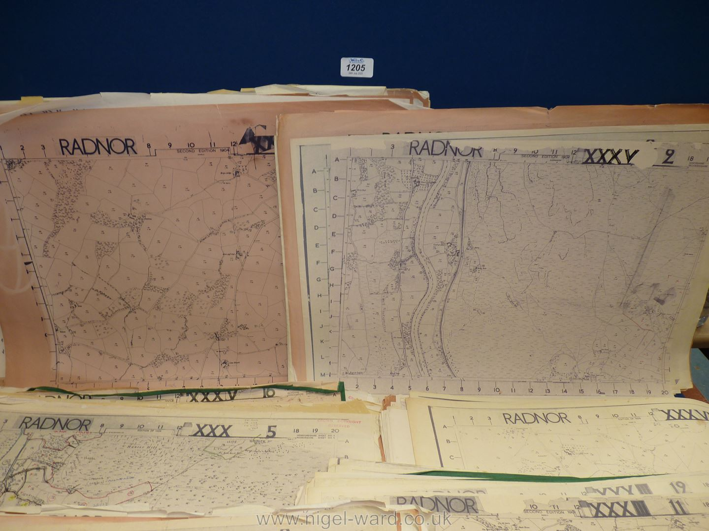 A set of large scale Ordnance Survey map sheets, circa 1904-05, - Image 2 of 2
